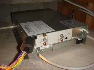 浴室地デジ テレビ データ放送・番組表などTVを観ない時にもデータ更新を行う為の工事