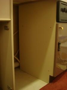ビルトイン食器洗い乾燥機の取り付け工事準備