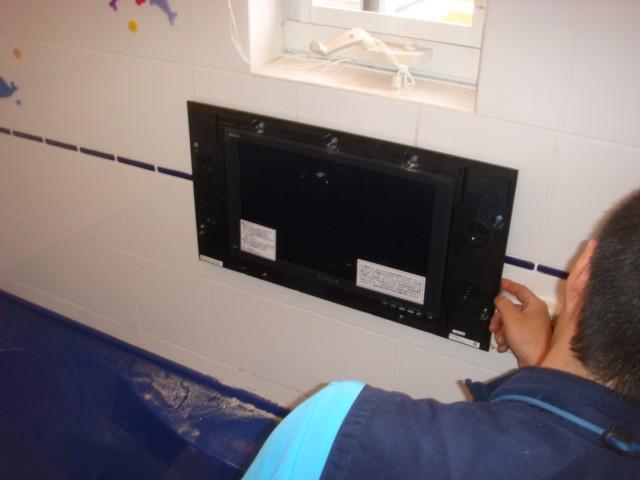 リンナイ 15.3型地デジ・ハイビジョン浴室テレビ YUGAの施工