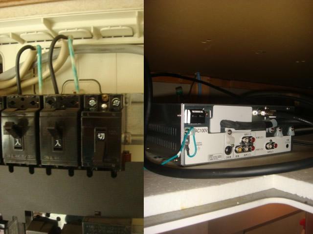 回路増線 浴室テレビ