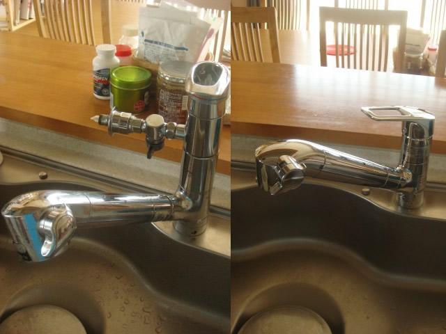 台所水栓取替工事(水道メンテナンス)