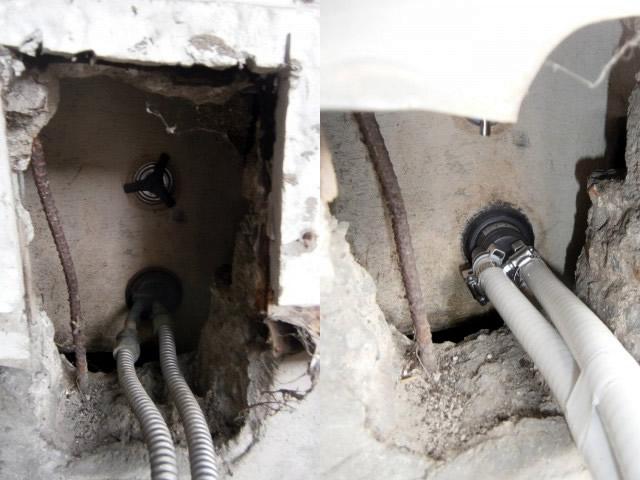 給湯器 循環口の取り替え