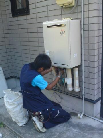 給湯器の取付 豊田市