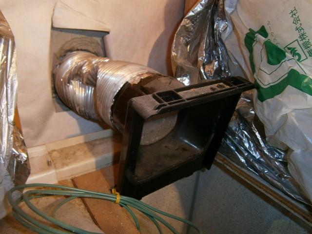 浴室の換気扇取替え工事