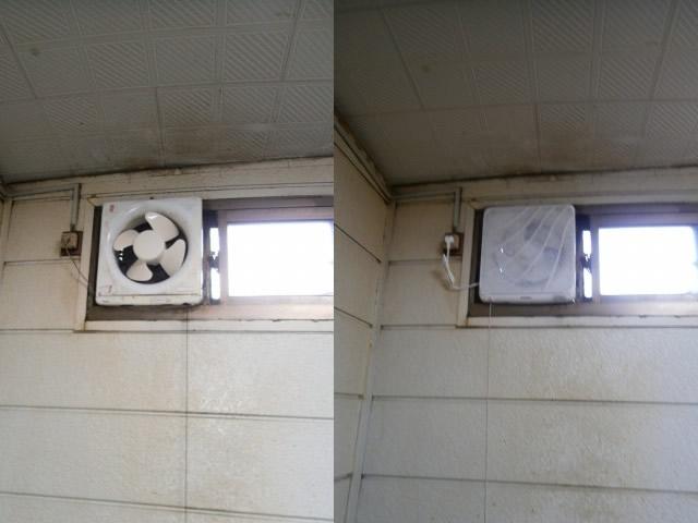 換気扇 取り付け 施工前と施工後