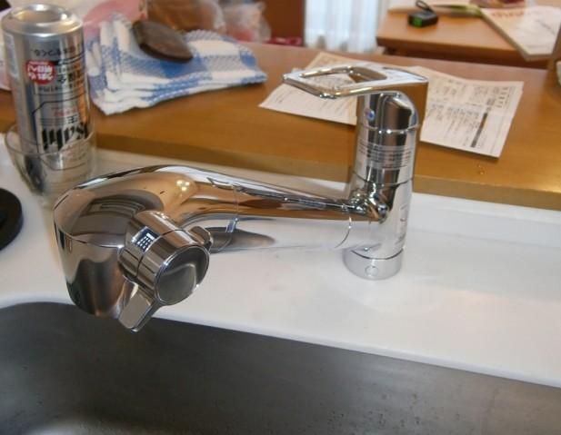 キッチン水栓取替工事 名古屋市北区