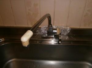 キッチン:シングルレバー取替工事