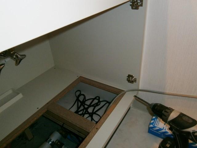 浴室テレビのAV用信号コンセント設置工事