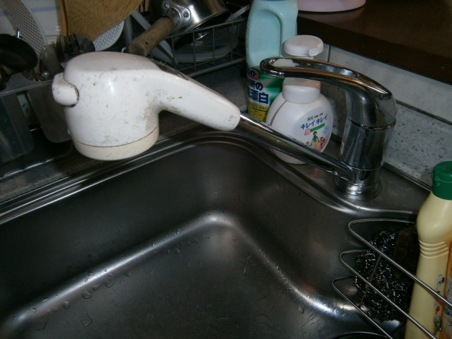 キッチン水栓 施工事例 愛知県東郷町