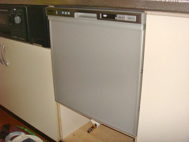 ビルトイン食洗機新規取付工事 施工事例 名古屋市南区