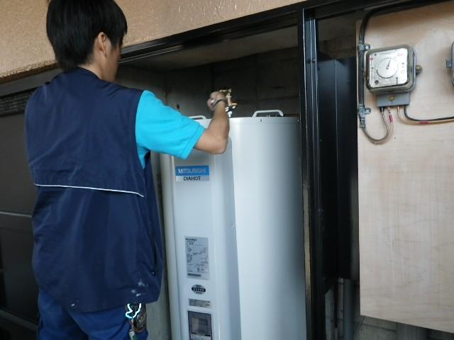 電気温水器取替工事 施工事例 愛知県豊橋市