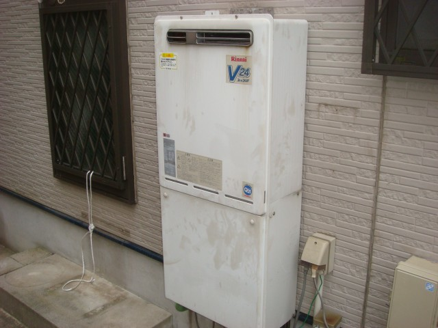ガス給湯器取替工事 取替工事 名古屋市西区