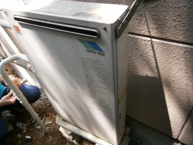 ガス給湯器取替工事 施工事例 愛知県日進市