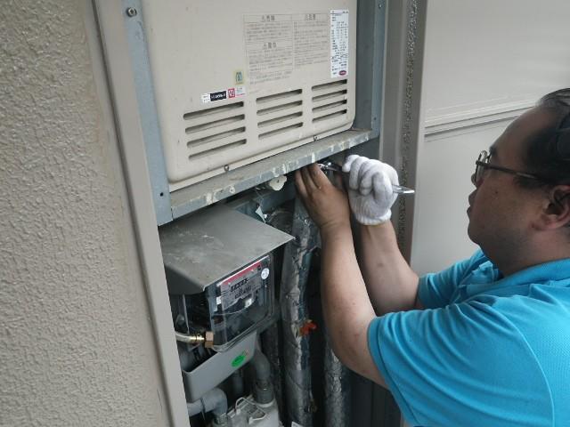 名古屋市千種区 ガス給湯器取替工事 施工事例