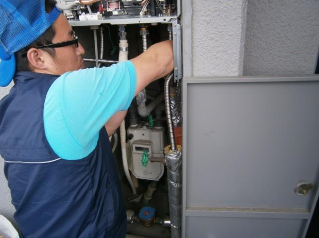 ガス給湯器取替工事 施工事例 愛知県尾張旭市