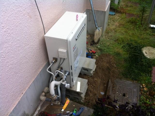 ガス給湯器取替工事 施工事例 愛知県天白区