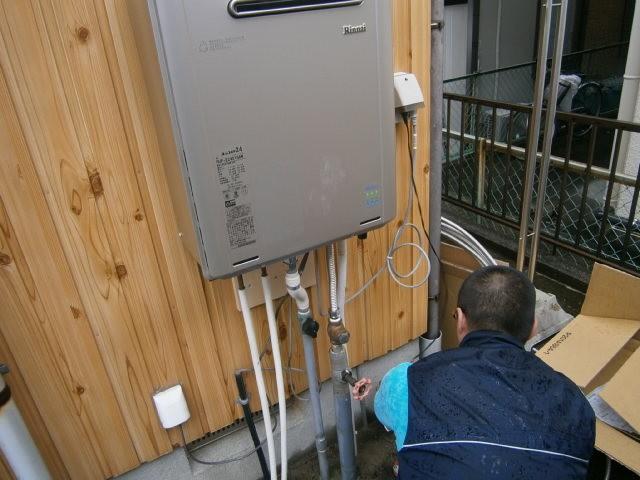 ガス給湯器取替工事 施工事例 愛知県豊橋市