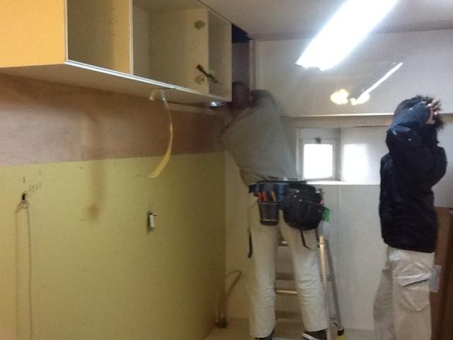 キッチンリフォーム 施工事例 名古屋市昭和区 施工中