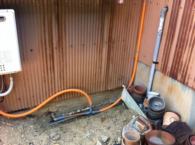ガス給湯器取付工事 施工事例 豊橋市