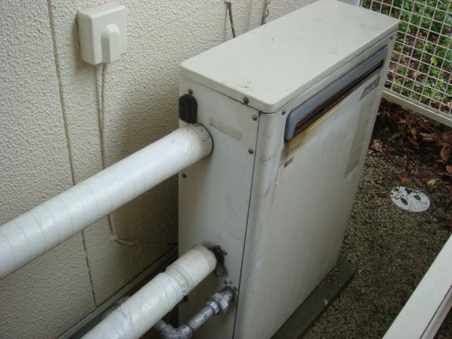 ガス給湯器取替工事 施工事例 愛知県豊橋市 施工前