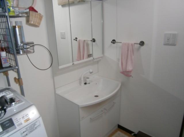 洗面化粧台取替工事 施工事例 名古屋市港区 既設