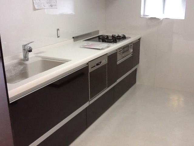 キッチンリフォーム 施工事例 名古屋市昭和区 食洗器・ガラストップコンロ組み込み