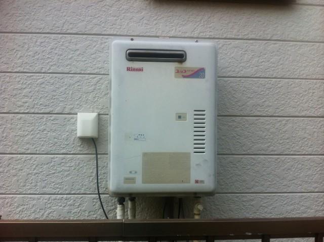 ガス給湯器取替工事 施工事例 岡崎市 施工前