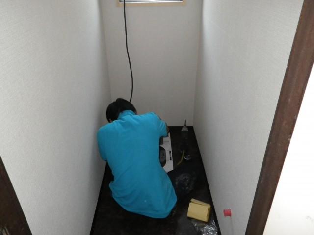 トイレリフォーム工事 施工事例 各務原市 施工中