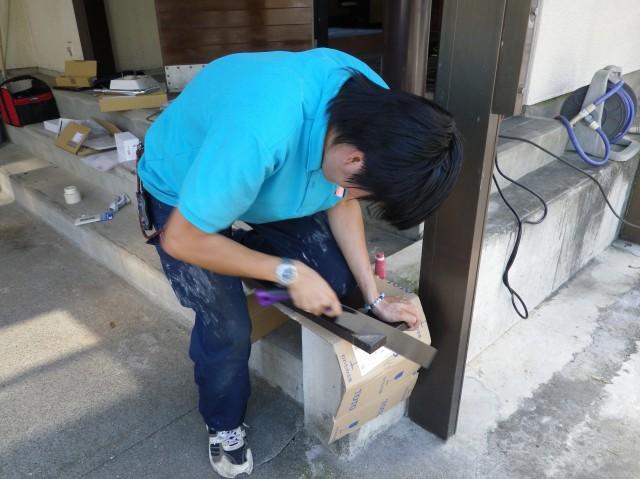 トイレリフォーム工事 施工事例 各務原市 作業中