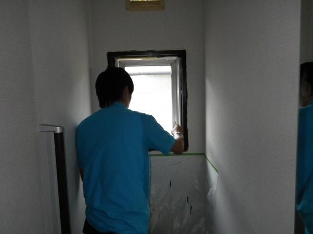 トイレリフォーム工事 施工事例 各務原市 窓枠