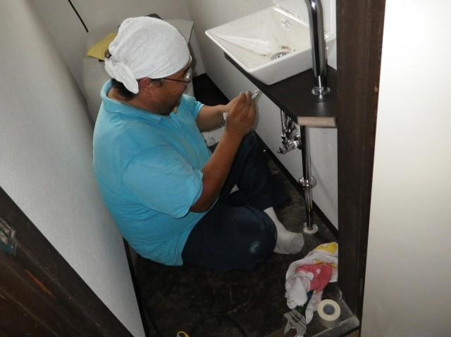 トイレリフォーム工事 施工事例 各務原市 手洗いカウンター