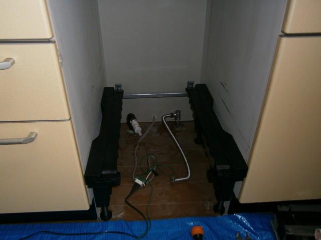 食洗器取替工事 施工事例 名古屋市緑区 施工中
