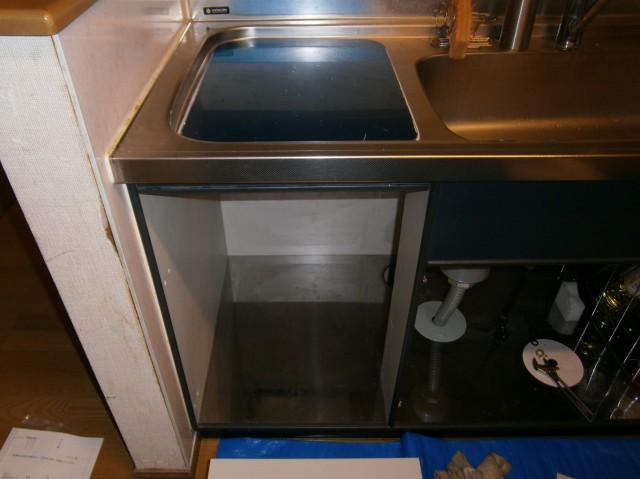 食洗器取替工事 施工事例 中津川 施工中