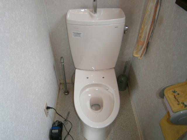 トイレ取替工事 施工事例 岡崎市 タンク