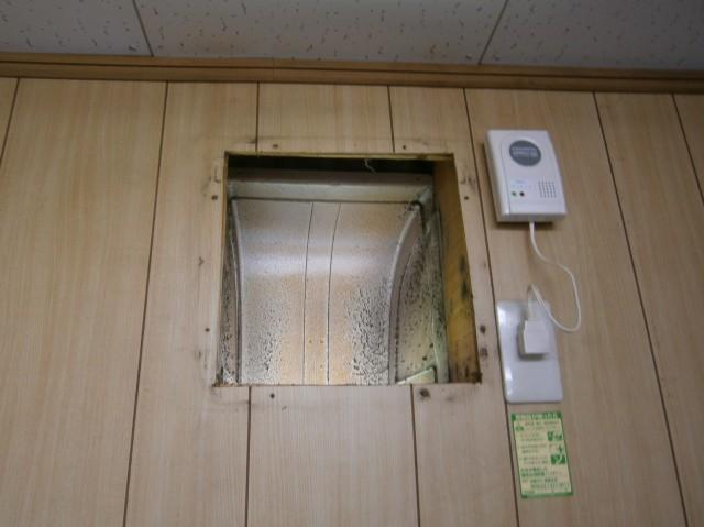 換気扇取替工事 施工事例 豊川市 施工中