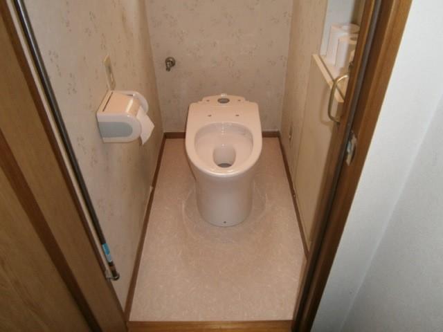 トイレ取替工事 施工事例 豊田市 施工中