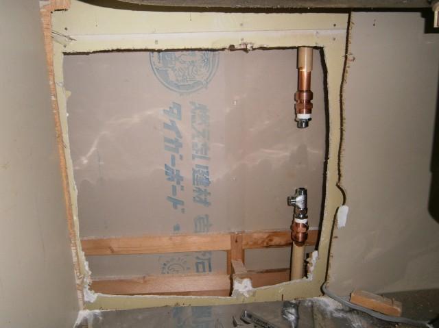 食洗器取付工事 施工事例 知多郡東浦町 施工中