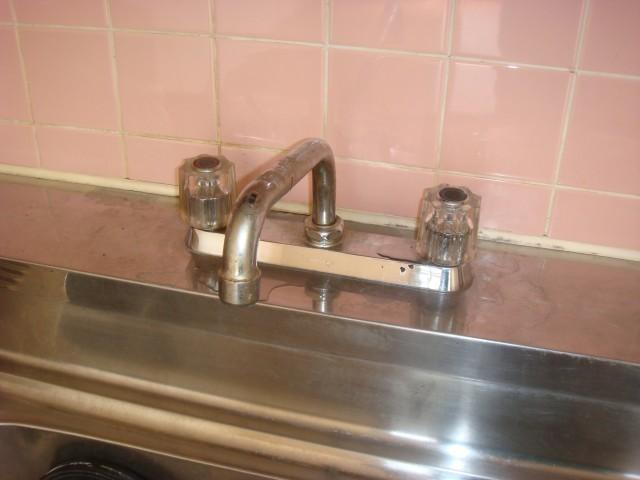 キッチン水栓取替工事 施工事例  名古屋市守山区 施工前