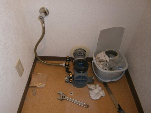 トイレリフォーム工事 施工事例 名古屋市緑区 施工中