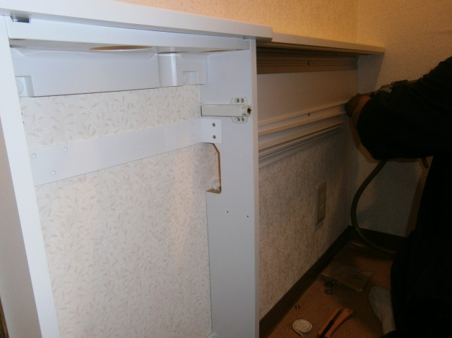 トイレリフォーム工事 施工事例 名古屋市緑区 カウンター施工中