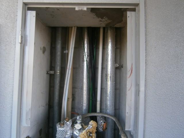 ガス給湯器 取替工事 施工事例 知立市 施工中