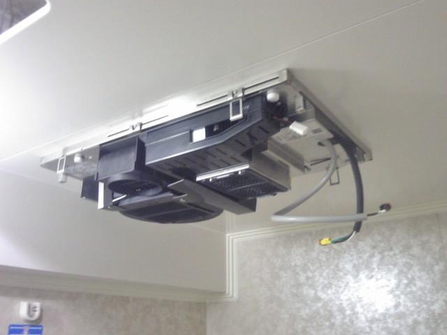 浴室暖房乾燥機 新規取付工事 施工事例 名古屋市守山区 ハーネス施工