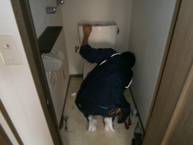 トイレ取替工事 施工事例  岡崎市 タンク・ウォシュレット取付