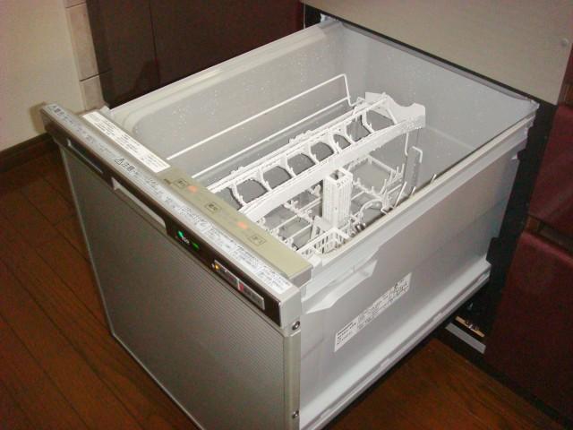 ビルトイン食洗機取替工事 施工事例 豊明市 試運転中
