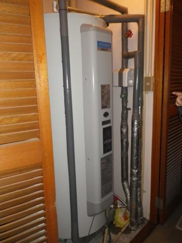 電気温水器取替え工事  施工事例 名古屋市西区 完成