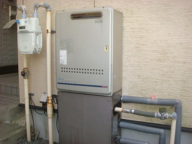 ガス給湯器 交換工事 施工事例 四日市市 施工前