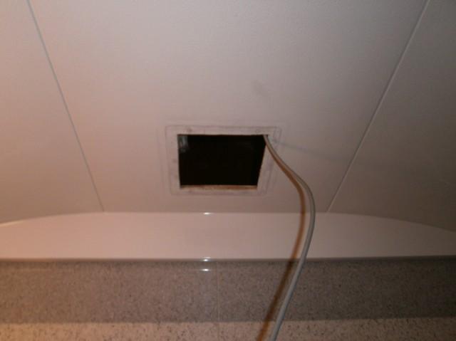 浴室換気扇取替工事 施工事例 刈谷市 施工中