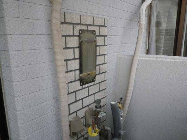 ガス給湯器交換工事 施工事例 瀬戸市 撤去後