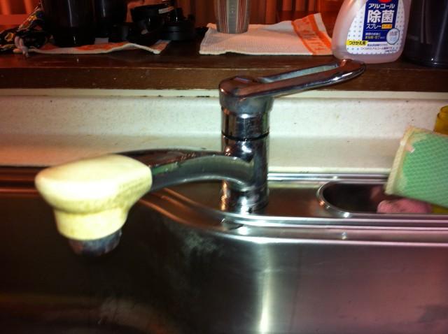 キッチン水栓取替工事 施工事例 名古屋市昭和区 施工前