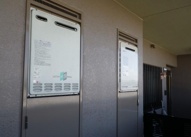 名古屋市西区 施工事例 ガス給湯器 交換工事 完成